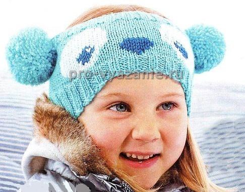 Вяжем спицами детскую повязку на голову