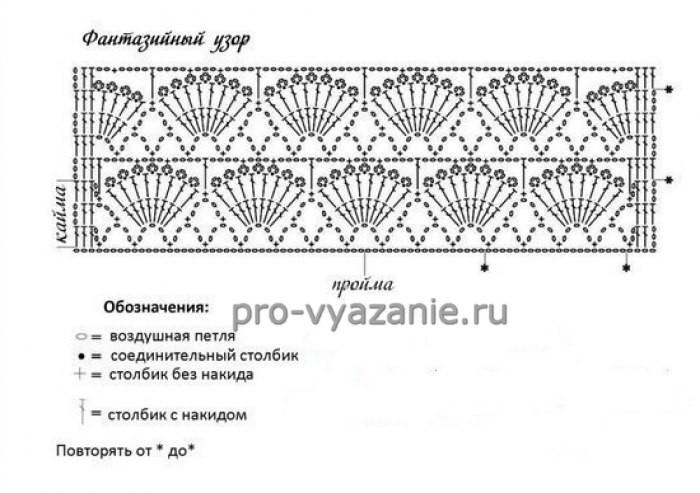 Ажурное болеро крючком (+ схема)