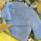Детская кофточка, вязанная спицами