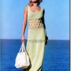 Летнее платье крючком с кольцами (описание)