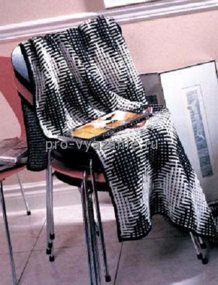 Одеяло, связанное спицами