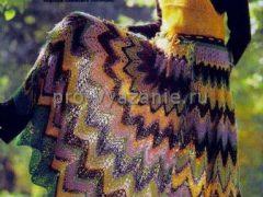 Вяжем длинную юбку спицами