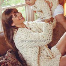Вяжем парные пуловеры для мамы и малыша