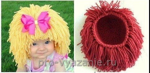 Оригинальная детская шапочка крючком