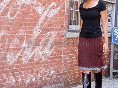 Вяжем спицами тёплую юбку