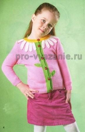 Вязание жакета для девочки