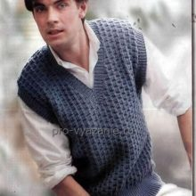 Вязание мужского жилета