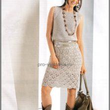 Вяжем летнее платье крючком