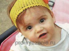 Вязаная повязка на голову для девочки