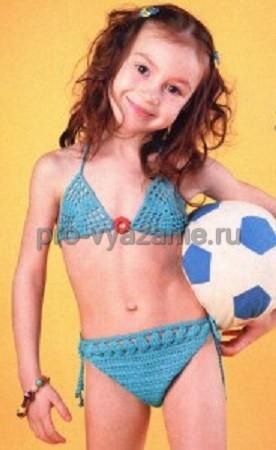 Детский купальник крючком
