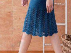 Вязаная юбка спицами для женщин