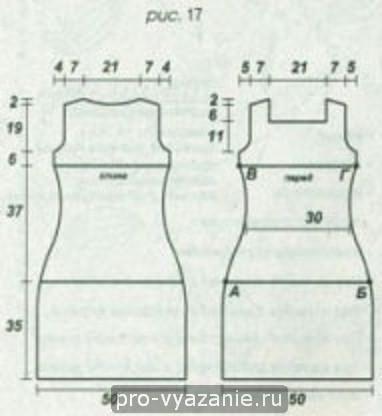Летнее ажурное платье спицами ( схема и описание)