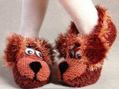 Тапочки-собачки своими руками