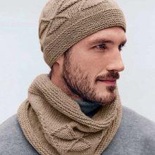 Шапка и шарф для мужчин. Вяжем сами